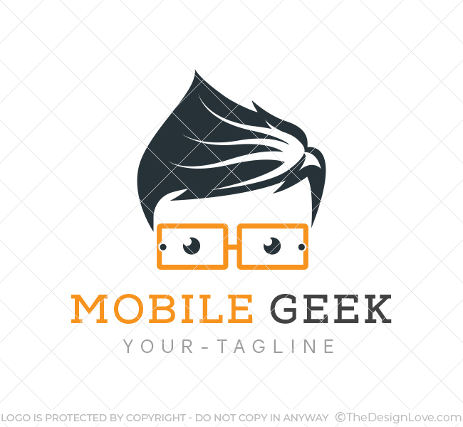 Mobile geek logo business card template the design love for Mobile logo
