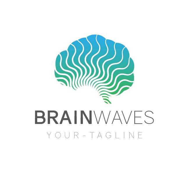 106 Brain Waves Logo Template