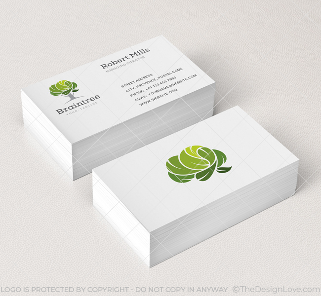 Brain tree logo business card template the design love brain tree business card mockup colourmoves