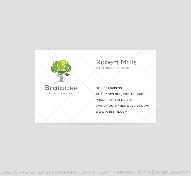 Brain Tree Logo  Business Card Template  The Design Love