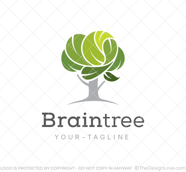 Brain tree logo business card template the design love brain tree logo flashek Images