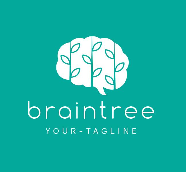 Pre-Made-Brain-Leaf-Logo