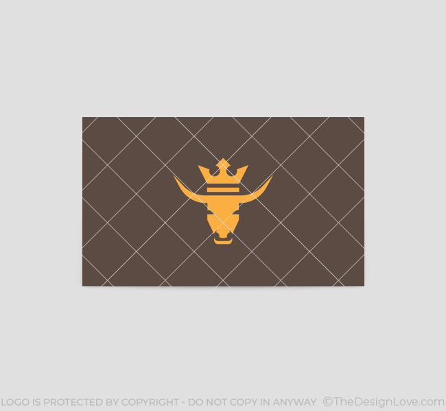 Bull-Crest-Business-Card-Template-Back