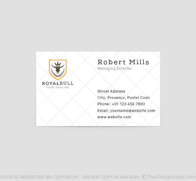 Bull-Crest-Business-Card-Template-Front