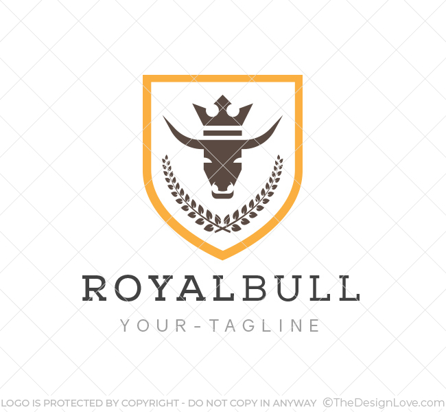 Bull crest logo business card template the design love bull crest logo template flashek Images