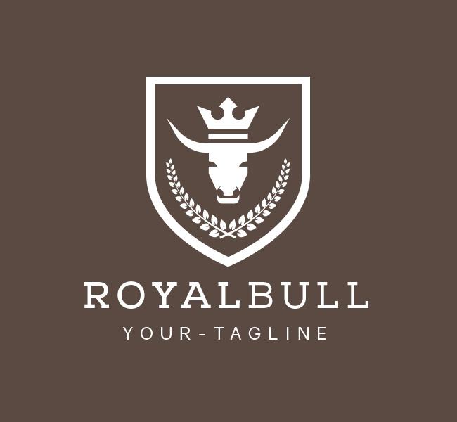 Pre-Made-Bull-Crest-Logo-White