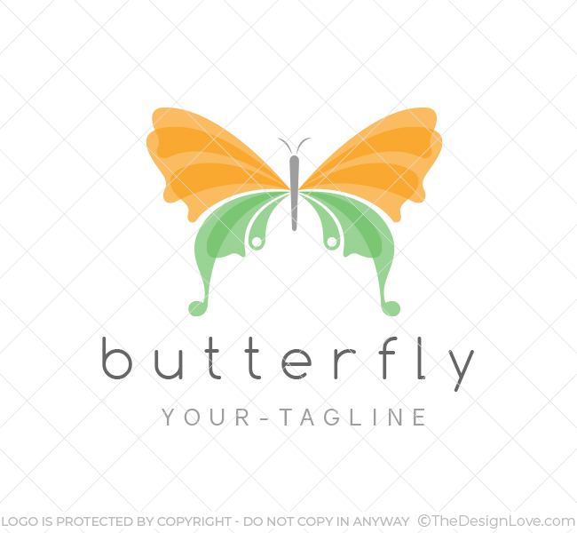 Butterfly logo business card template the design love butterfly logo wajeb