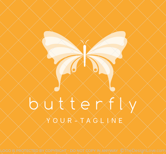Pre-Made-Butterfly-Logo-White