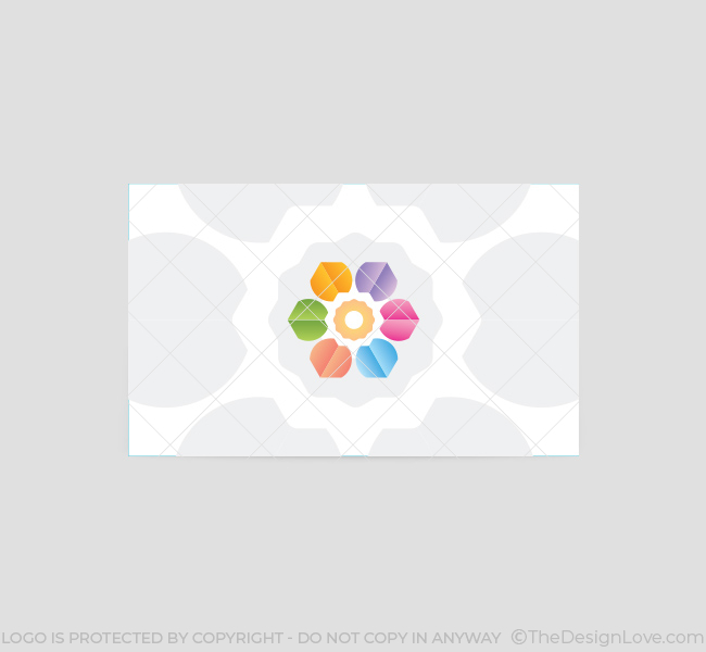 Abstract-Flower-Business-Card-Template-Back