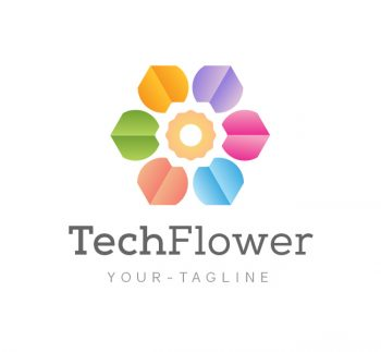 Abstract Flower Logo & Business Card Template