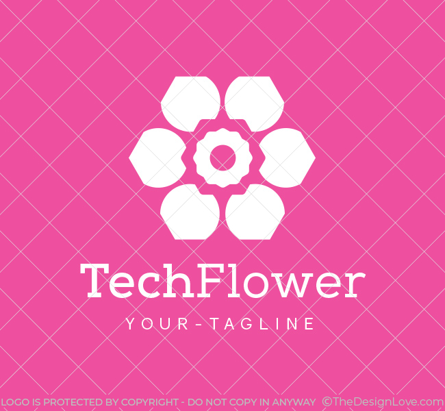 Pre-Made-Abstract-Flower-Logo-White