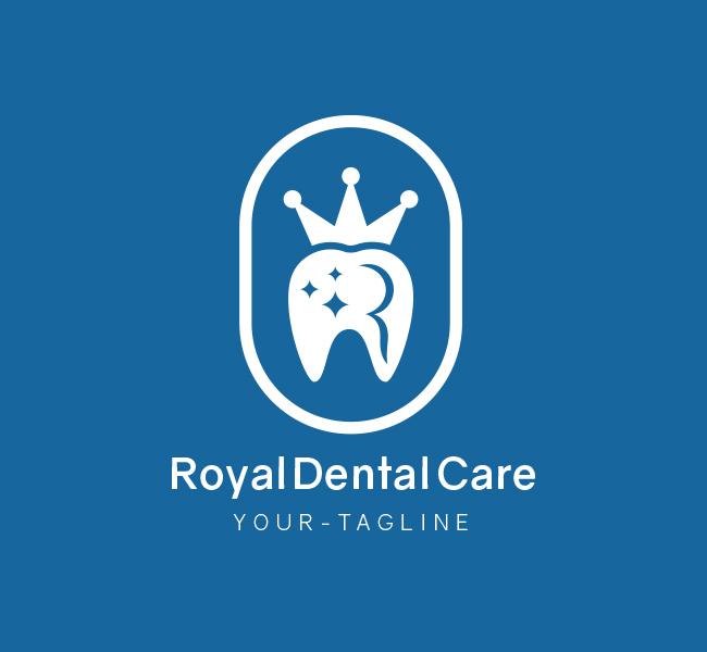 Pre-Made-Royal-Dental-Care-Logo-White-1