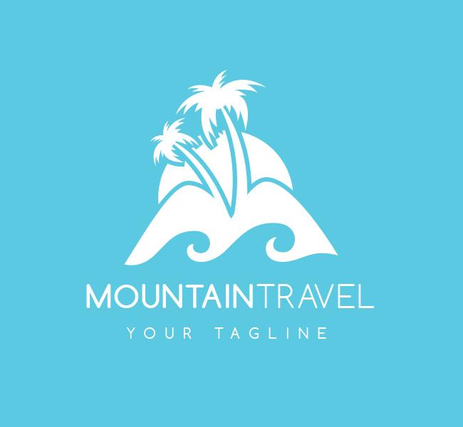 Pre-Made-Mountain-Travel-Logo-White