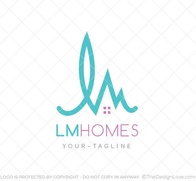 Lm homes logo business card template the design love lm homes logo flashek Images