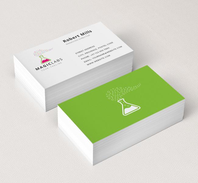 magic labs logo business card template the design love. Black Bedroom Furniture Sets. Home Design Ideas