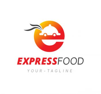Express Food Delivery Logo & Business Card Template