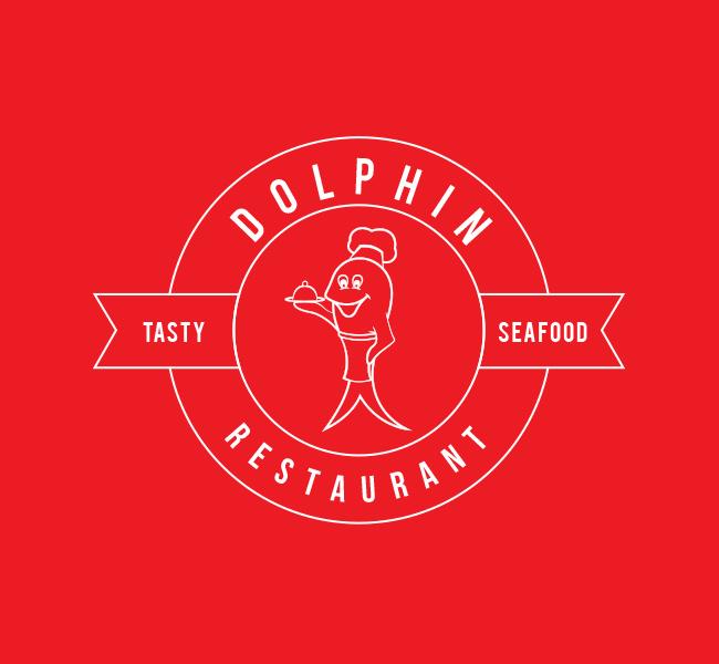 Pre-Designed-Dolphin-Restaurant-Logo-White