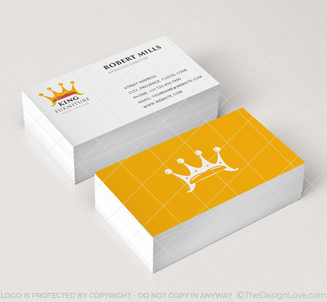 King furniture logo business card template the design love king furniture business card mockup colourmoves
