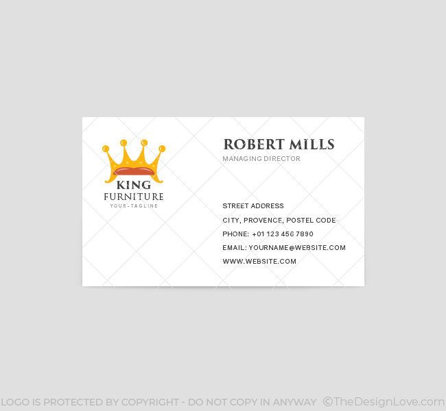 King furniture logo business card template the design love king furniture business card template front colourmoves