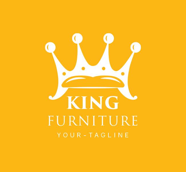 Pre-Made-King-Furniture-Logo-White