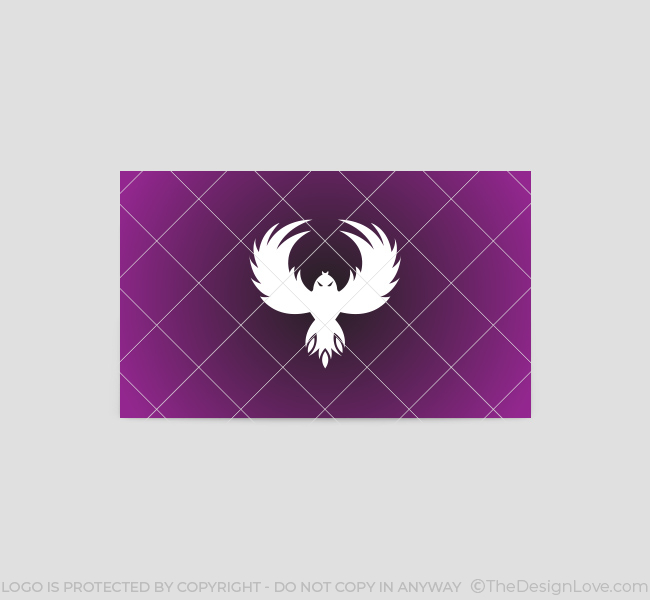 flying eagle logo business card template