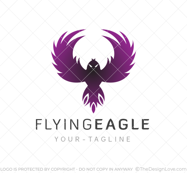 flying eagle logo business card template the design love