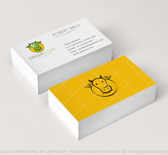 Green Cow-Business-Card-Mockup