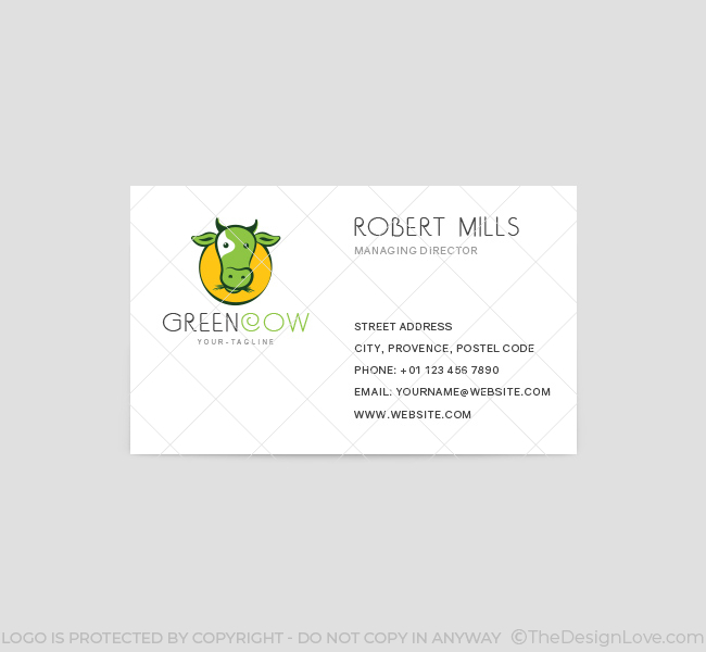 Green-Cow-Business-Card-Template-Front