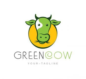 Green Cow Logo & Business Card Template