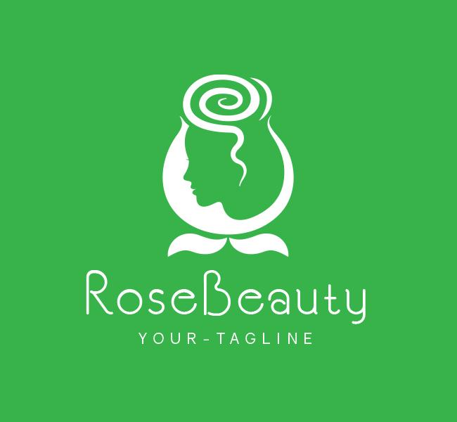 Pre-Made-Rose-Beauty-Parlour-Logo-White