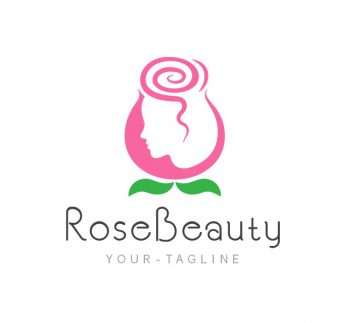Rose Beauty Parlor Logo & Business Card Template
