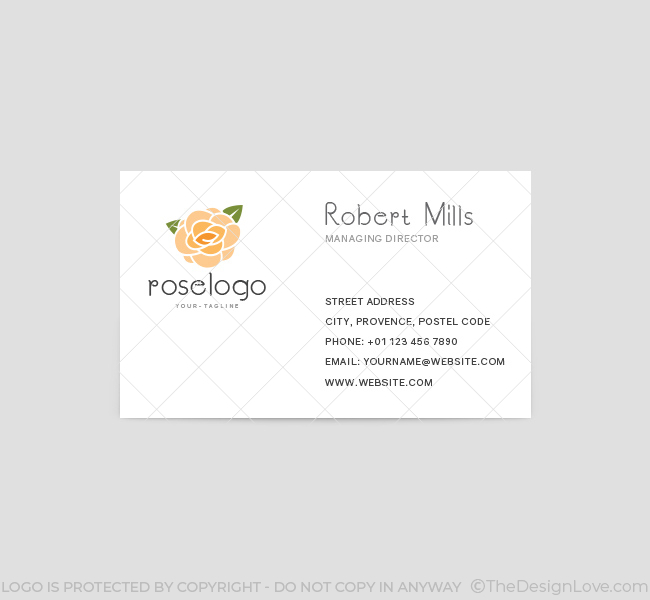 Rose-Business-Card-Template-Front