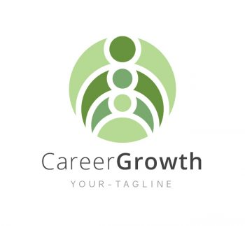Career Growth Logo & Business Card Template