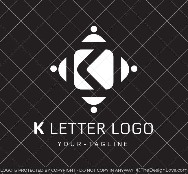 Pre-Made-K-Letter-Logo-White