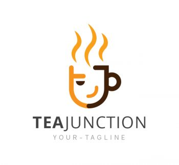 Tea Junction Logo & Business Card Template