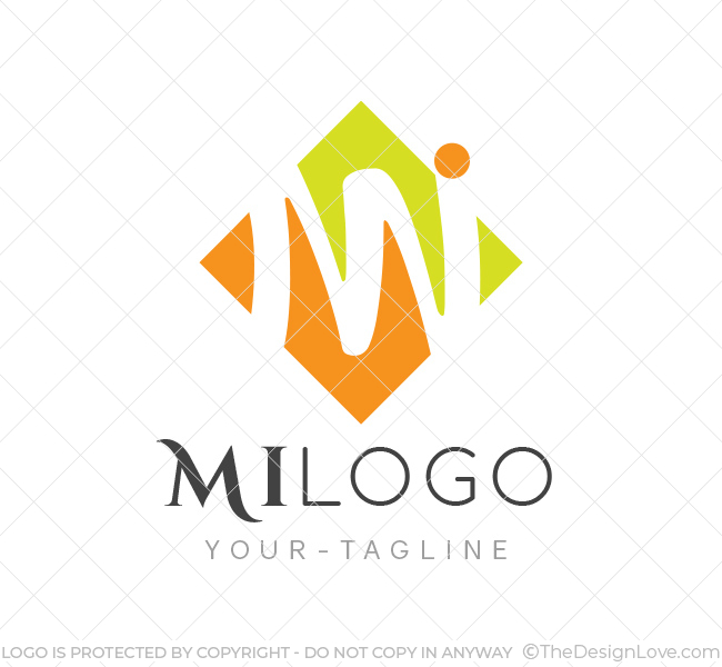 Mi logo business card template the design love mi logo template wajeb Images