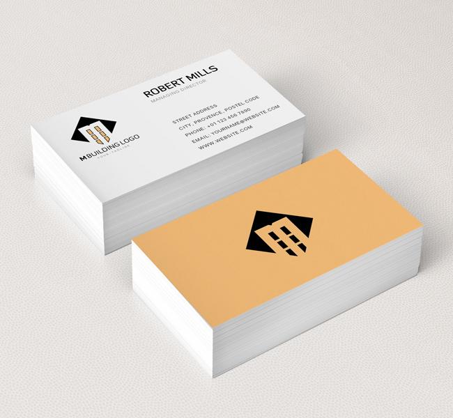 M Building Business Card Mockup