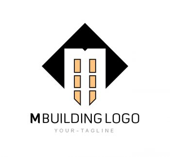 M Building Logo & Business Card Template