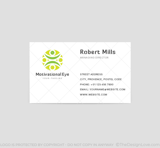 Motivational logo business card template the design love motivational business card template front colourmoves