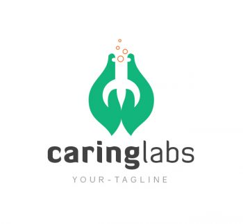 Caring Lab Logo & Business Card Template