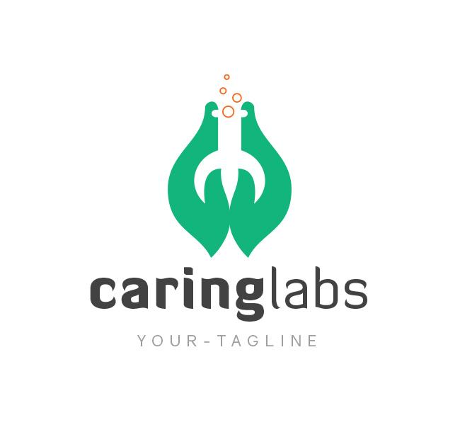Caring-Lab-Logo-Template