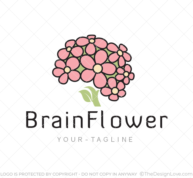 Brain-Flower-Logo-Template