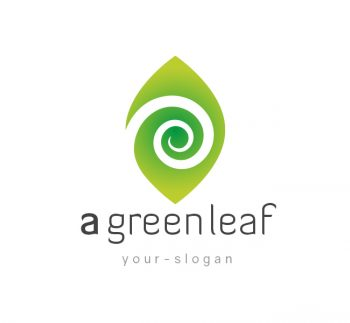 Green Leaf Logo & Business Card Template