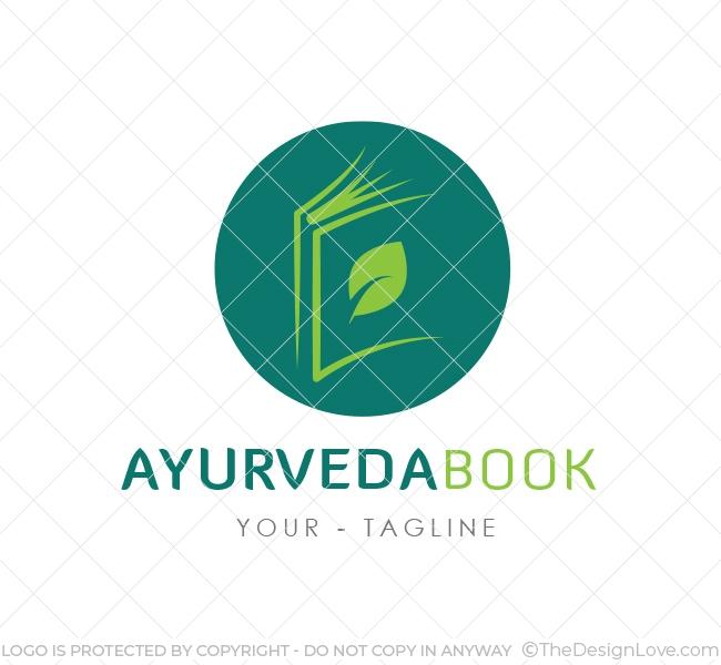 Ayurveda book logo business card template the design love ayurveda book logo accmission Choice Image