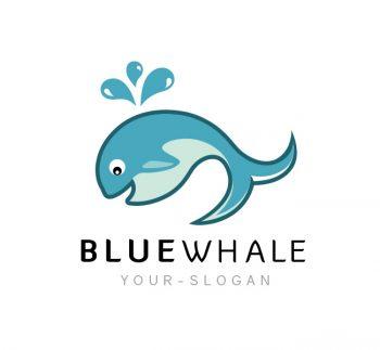 Blue Whale Logo & Business Card Template