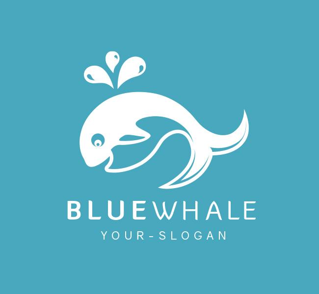 Pre-Made-Blue-Whale-Logo