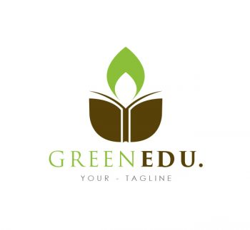 Green Education Logo & Business Card Template