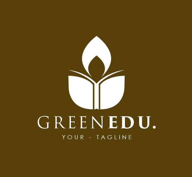 Pre-Made-Green-Education-Logo-White