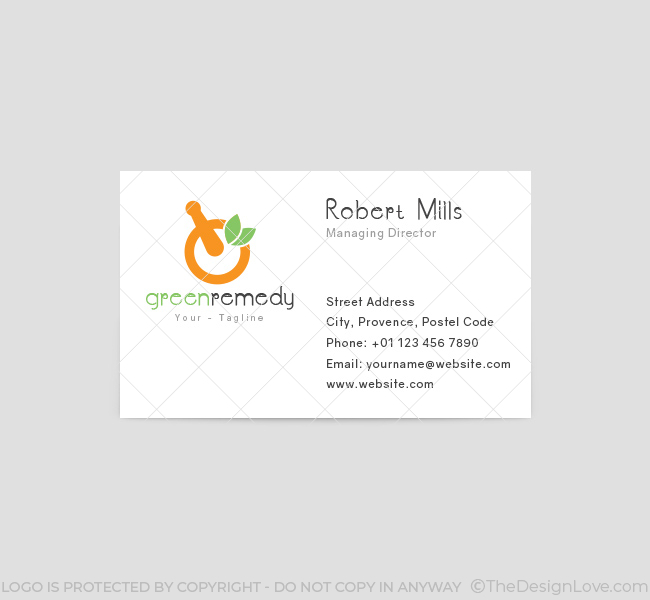 Green-Remedy-Business-Card-Template-Front