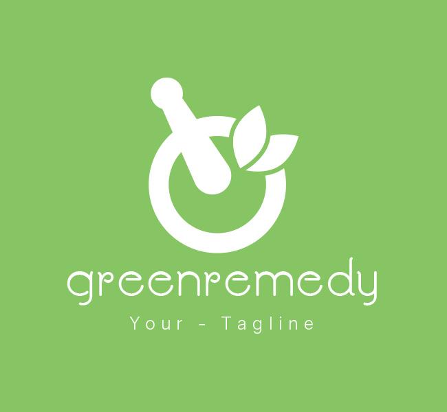 Pre-Made-Green-Remedy-Logo-White